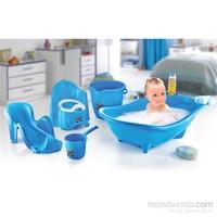 Dünya Plastik Küvet Seti Bebek Banyo Küvet Takımı 5 Li Set