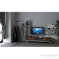 Hayal 12557 Tv Ünitesi Leon Ceviz/Parlak Beyaz