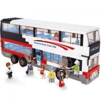 Sluban Yapboz Blok 741 Parça Büyük Boy 2 Katlı Otobüs