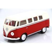 Kinsmart 1962 Volkswagen Classical Bus (Kırmızı-Krem) 1:32 Diecast Metal