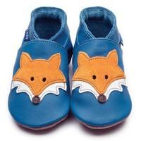 İnch Blue Hakiki Deriden Patik Mr Fox Blue