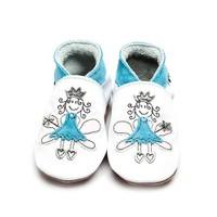 İnch Blue Hakiki Deriden Patik Fairy Princess White