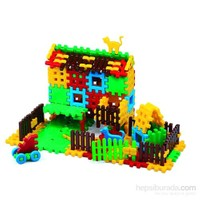 Marıoinex 120 Parça Tasarım Blokları Ev