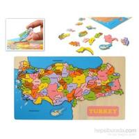 Vardem Egıtıcı Ahsap Puzzle Turkıye Har