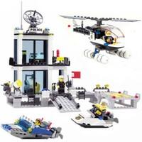 Kazi 536 Parça Lego Yapboz Polis İstasyon Seti
