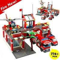 Kazi Yapboz 774 Parça Lego İtfaiye İstasyonu Büyük Boy