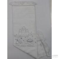 Bebitof Battaniye Bbtf 5193 Astarlı Triko Beyaz