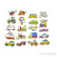Vıga Toys Manyetik Taşıtlar - 20 Parça