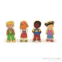 Vıga Toys Manyetik Çocuklar - 12 Parça
