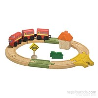 Plantoys Oval Demiryolu (Railway-Oval Set)