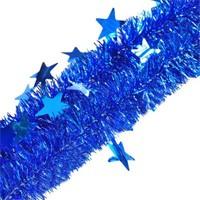 Pandoli Yıldızlı 6 Cm Mavi Renk Sim Parti Süsü 2 Metre