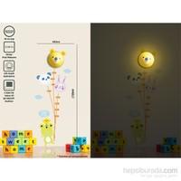 Tüyball Ayıcıklı Sticker Duvar Lambası