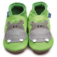 İnch Blue Hakiki Deriden Patik Hippo Green
