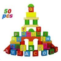 Bircan Oyuncak Renkli Ahşap Bloklar 50 Parça