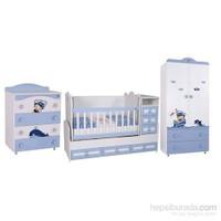 Babyhope Denizci Modüler Bebek Odası Takımı Mavi - Büyüyen