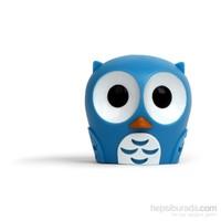 Diş Fırçası Kabı Mavi Baykuş