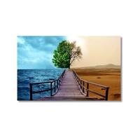 Tictac Deniz Ve Çöl Kanvas Tablo - 40X60 Cm