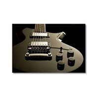 Tictac Gri Gitar Kanvas Tablo - 40X60 Cm