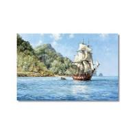 Tictac Deniz Ve Yelkenli Kanvas Tablo - 60X90 Cm