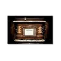 Tictac Eski Piano Kanvas Tablo - 60X90 Cm