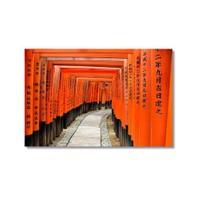 Tictac Turuncu Tünel Kanvas Tablo - 50X75 Cm