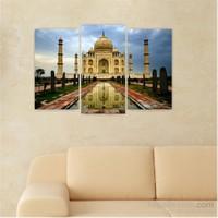 Dekoriza Hindistan Taj Mahal 3 Parçalı Kanvas Tablo 80X50cm
