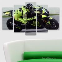 Dekoriza Motorsiklet 5 Parçalı Kanvas Tablo 110X60cm