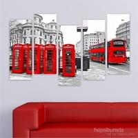 Dekoriza Siyah & Beyaz Londra 5 Parçalı Kanvas Tablo 160X95cm