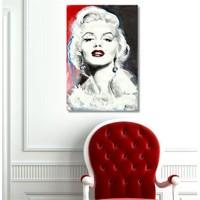 Tictac Marilyn - Kanvas Tablo - Büyük Boy