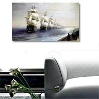 Tictac Gemiler - Kanvas Tablo - Büyük Boy