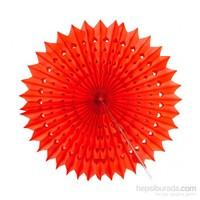 KullanAtMarket Kırmızı Yelpaze Süs 50 Cm