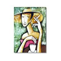 Tictac Kahve Kanvas Tablo - 40X60 Cm