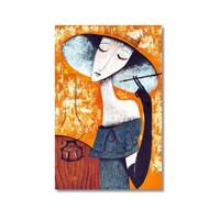 Tictac Sigaralı Kadın Kanvas Tablo - 40X60 Cm