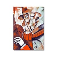Tictac Dekoratif Müzik Serisi - Keman Kanvas Tablo - 40X60 Cm