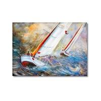 Tictac Yelkenli Yatlar Kanvas Tablo - 50X75 Cm