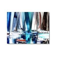 Tictac Yelkenliler Kanvas Tablo - 40X60 Cm