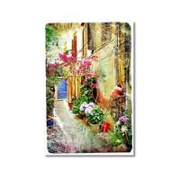 Tictac Çiçekli Sokak 1 Kanvas Tablo - 50X75 Cm