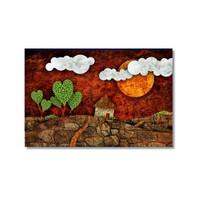 Tictac Dekoratif 10 Kanvas Tablo - 40X60 Cm