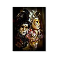 Tictac Venedik Maskeleri 5 Kanvas Tablo - 40X60 Cm