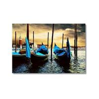 Tictac Venedik Gondolları Kanvas Tablo - 50X75 Cm