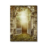 Tictac Bahçedeki Kapı Kanvas Tablo - 50X75 Cm