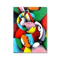 Tictac Renkli Şekiller Kanvas Tablo - 50X75 Cm