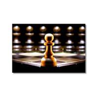 Tictac Yalnız Piyon Kanvas Tablo - 50X75 Cm