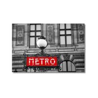 Tictac Metro Kanvas Tablo - 60X90 Cm