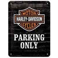 Nostalgic Art Harley Davidson Parking Only Metal Kabart Malı Duvar Panosu (15 X 20 Cm)