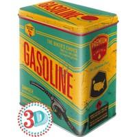 Nostalgic Art Gasoline Metal Kabart Malı Saklama Kutusu
