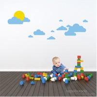 Bestasticker Güneş Ve Mavi Bulutlar Sticker