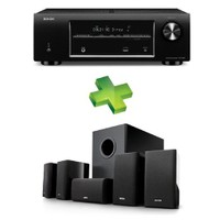 Denon AVR-X500 5.1 Kanal ULTRA HD & 3D AV Receiver + Denon SYS-5.1 Ev Sinema Hoparlör Sistemi