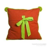 Yastıkminder Koton Fiyonk Yeşil Oranj Dekoratif Yastık
