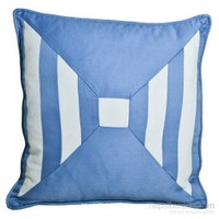 Yastıkminder Koton Mavi Beyaz Pechvork Dekoratif Yastık